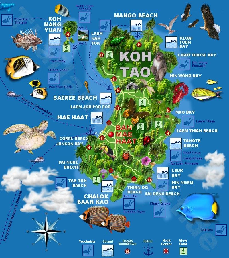 Carte Koh Samui En Francais.Visiter Ko Phangan En 3 Jours