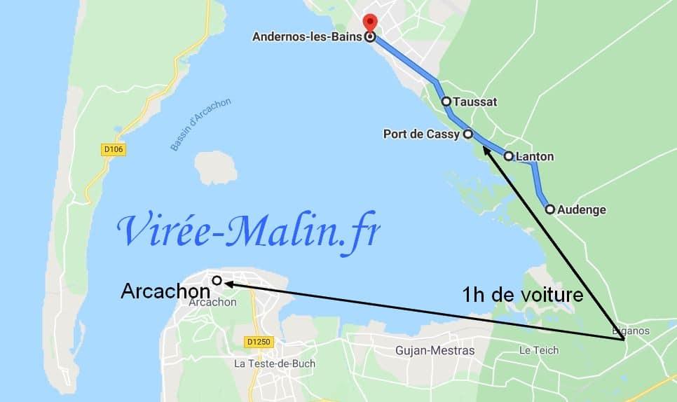 audenge-andernos-bassin-arcachon-itineraire