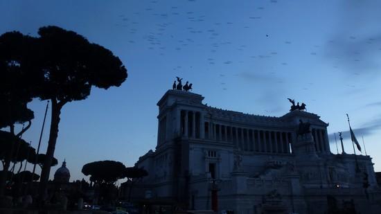 rome La piazza Venezia