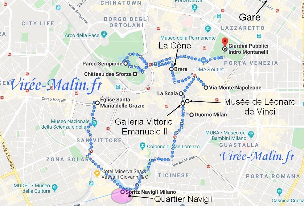 googlemap-Visite-Milan