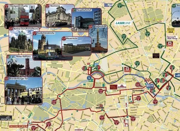 Bus Touristique Berlin Carte