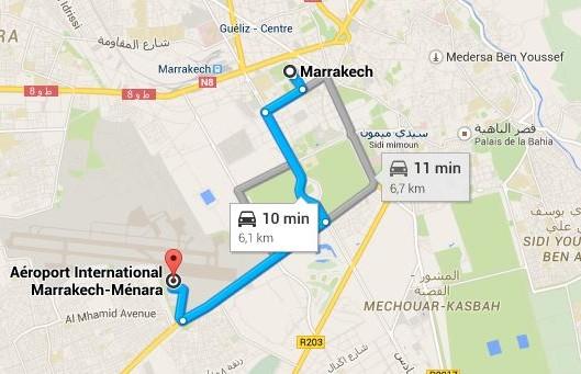 rejoindre-marrakech-depuis-aeroport-menara