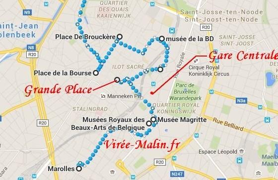 Visite Bruxelles Plan Googlemap