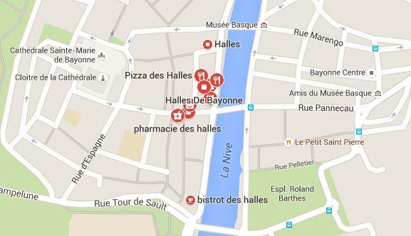 googlemap-halles-bayonne