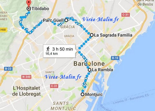 googlemap-tibidabo-montjuic-barcelone
