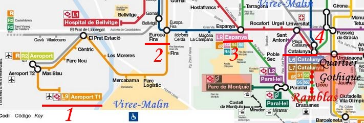 Carte Metro 1 Jour Barcelone.Comment Visiter Barcelone En 3 Ou 4 Jours