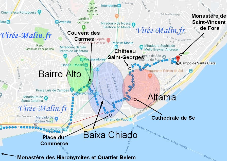 Plan Visite Quartier Lisbonne