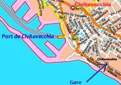 transfert rome à Civitavecchia