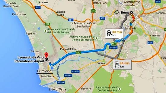 rejoindre-rome-depuis-aeroport-fiumicino