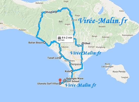 Carte Bali Chose A Voir.Visiter Bali En 2 Semaines