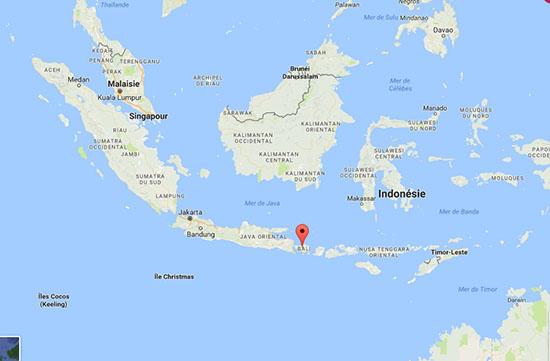 Carte Bali Et Gili.Visiter Bali En 2 Semaines