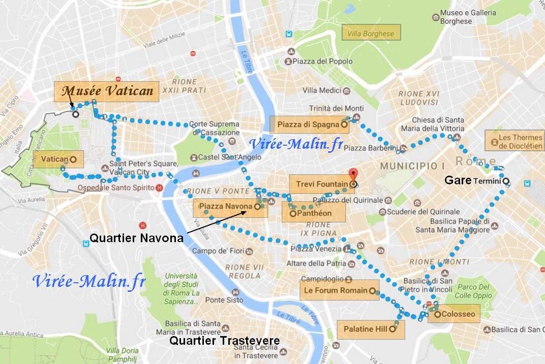 Visite Rome Plan Googlemap