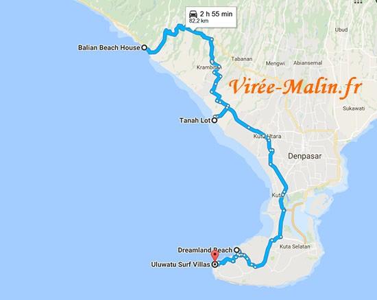 rejoindre-balian beach-ulu-watu-bali