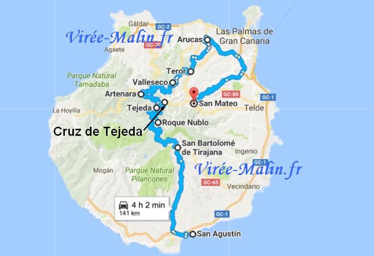 Visiter Ile Canarie Googlemap