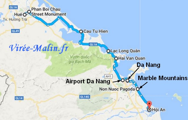 googlemap-rejoindre-hoi-an-depuis-hue
