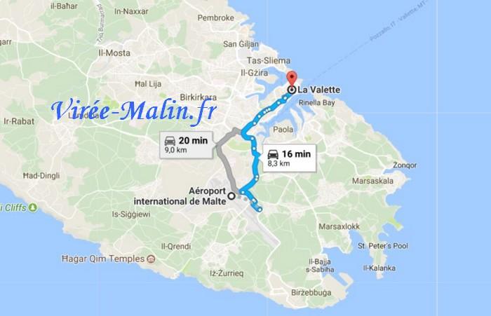 rejoindre-la-valette-depuis-aeroport-malte