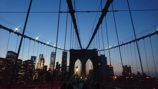 Coucher de soleil pont Brooklyn