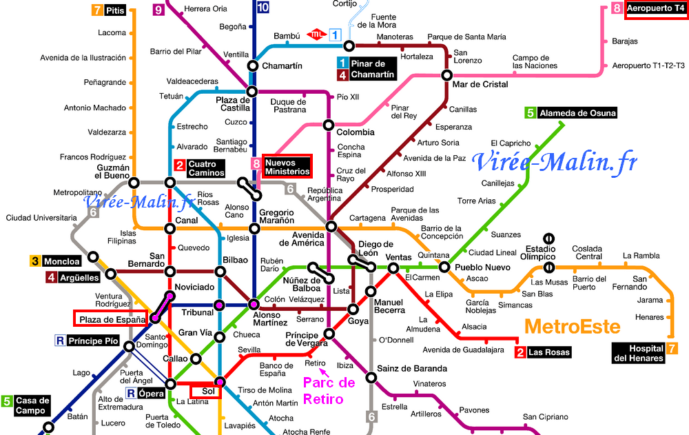Madrid-metro-map