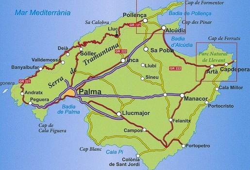 Majorque Baleares Espagne Carte.Visiter Palma De Majorque En 3 Jours