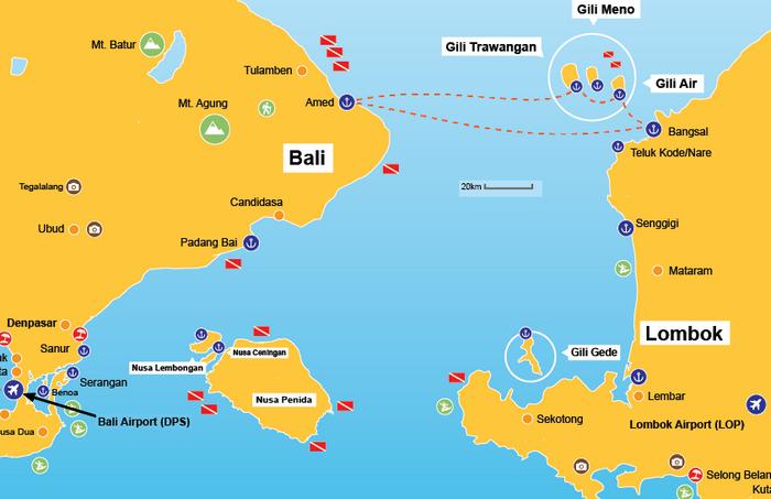 Carte Bali Lieux Touristique.Visiter Bali En 2 Semaines