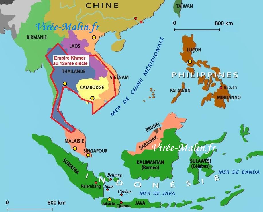 Carte Paludisme Asie Du Sud Est.Visiter Le Cambodge Itineraire De 2 Ou 3 Semaines