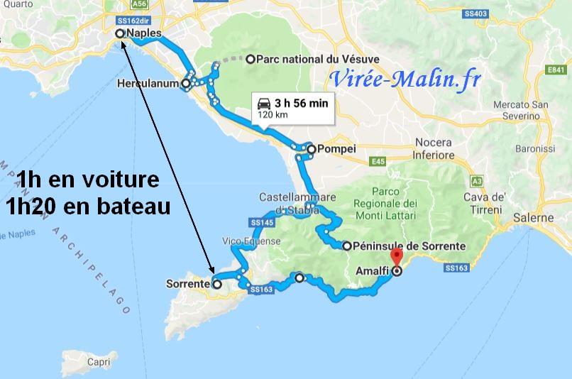 rejoindre-sorrente-depuis-naples-googlemap