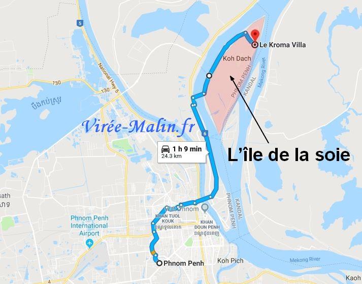 visiter-ile-de-la-soie-phnom-penh-googlemap