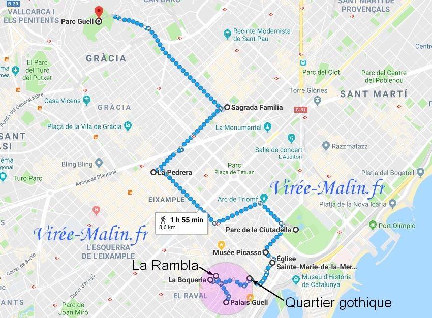 Carte Eixample Barcelone.Ou Dormir A Barcelone Quel Quartier Loger A Barcelone