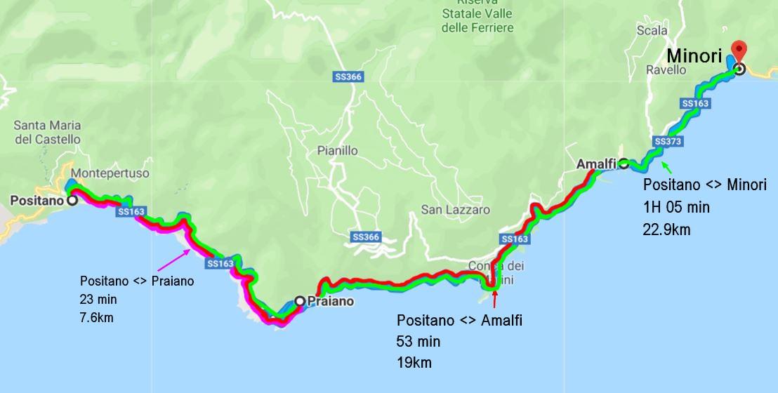 rejoindre-cote-amalfitaine-depuis-positano-voiture
