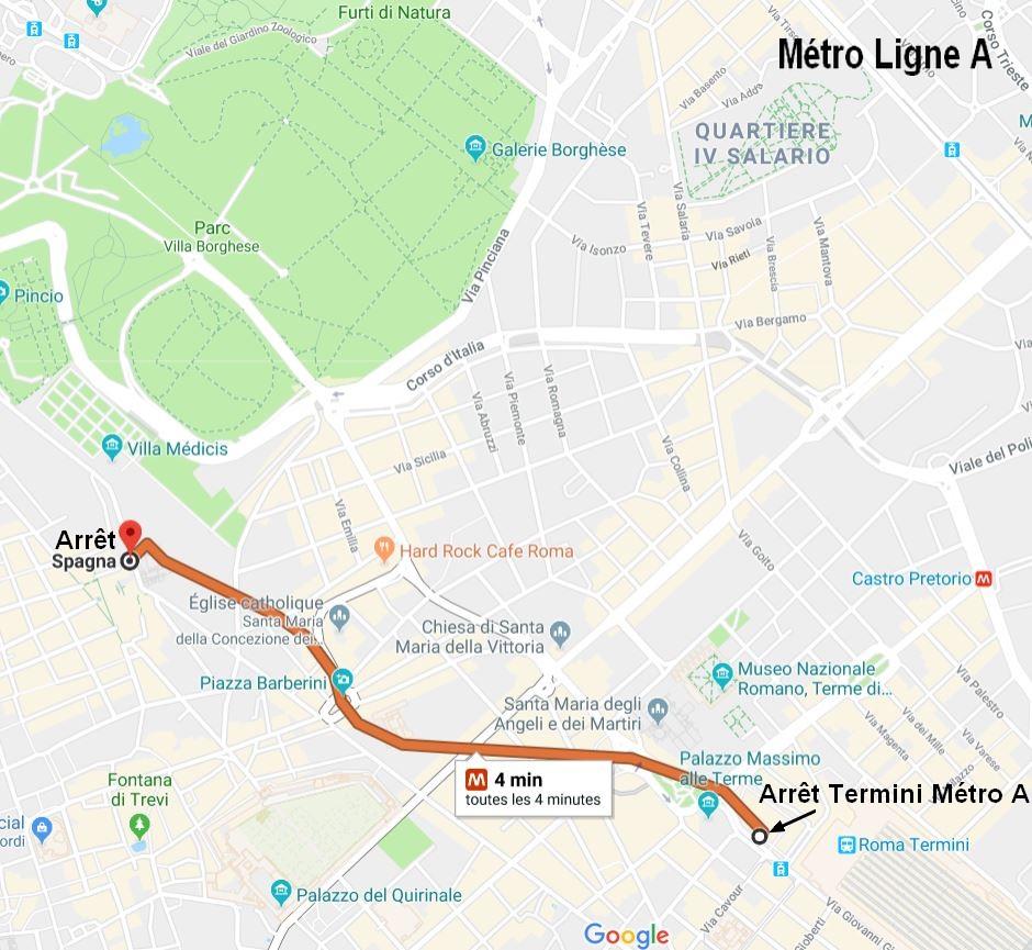 rejoindre-villa-borghese-metro-rome