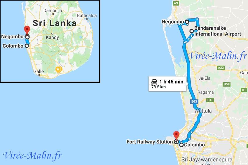 rejoindre-colombo-negombo-depuis-aeroport-Bandaranaike