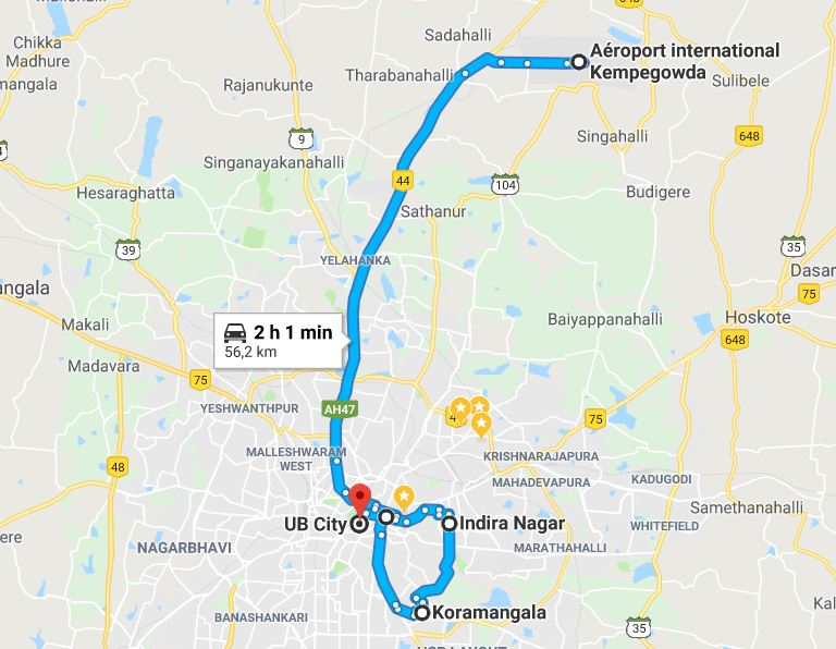 rejoindre-bangalore-depuis-aeroport-kempegowda