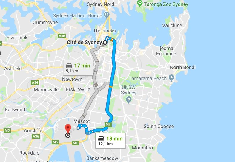 rejoindre-sydney-depuis-aeroport-international