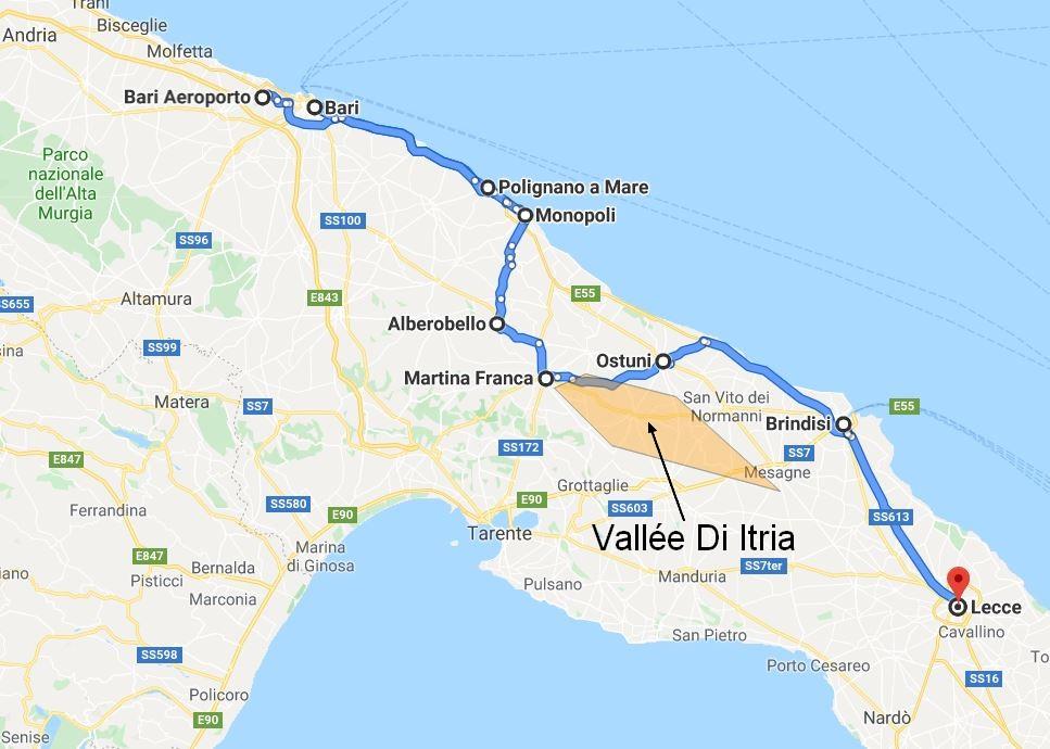 itineraire-voiture-locaton-3-jours-Pouilles