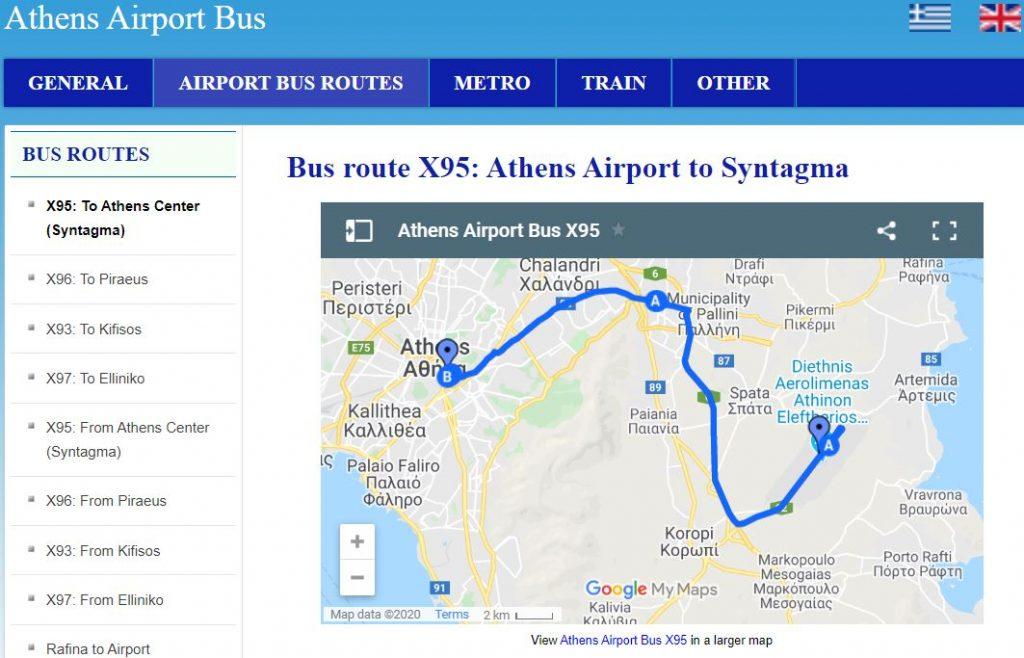 horaire-bus-athenes-x95-x96-x97