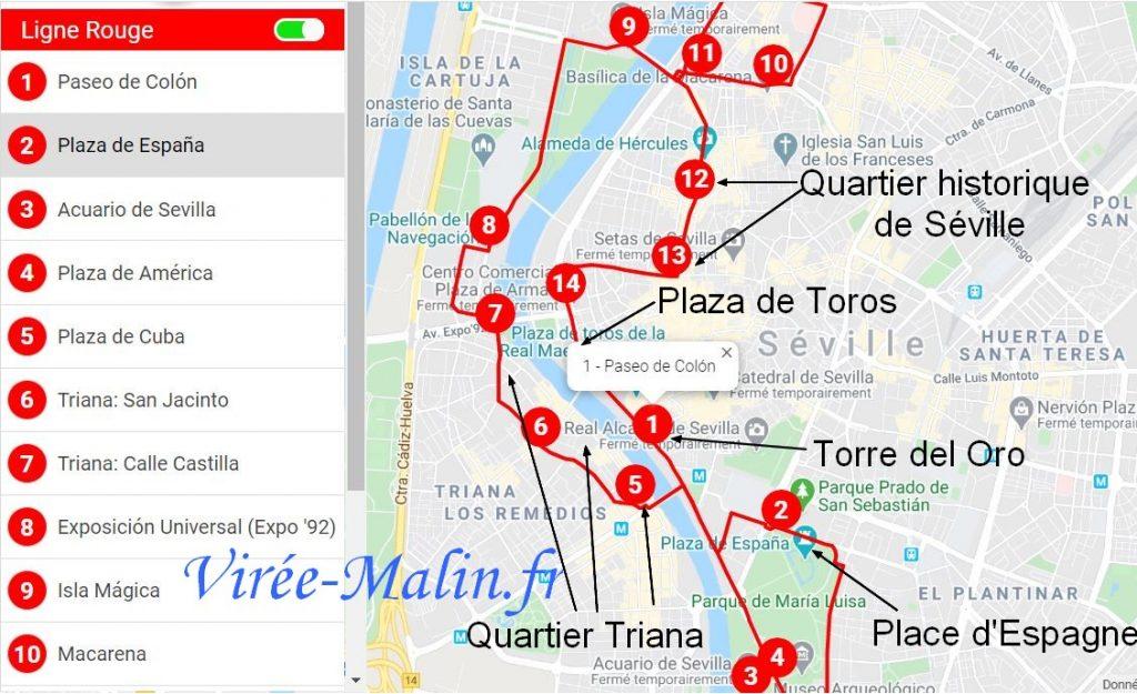itineraire-bus-ligne-rouge-seville