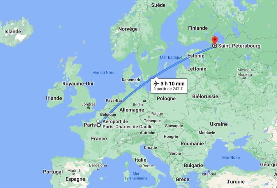 saint-petersbourg-paris-googlemap