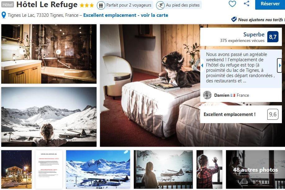 hotel-le-refuge-tignes-proche-lac