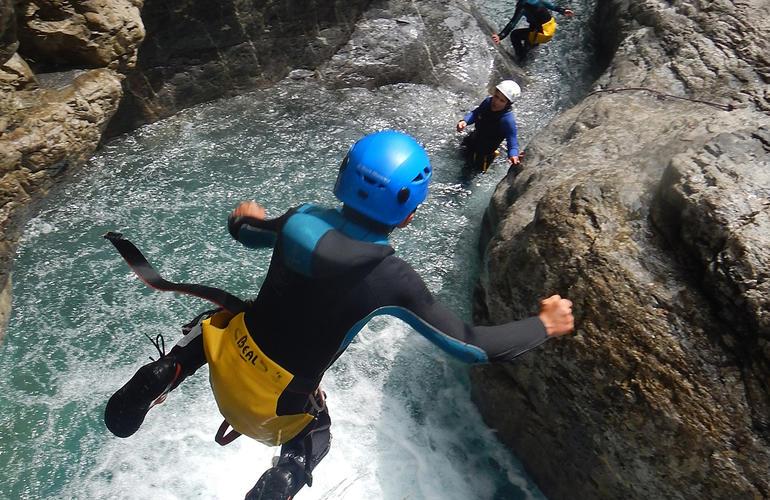 descente-toboggans-canyon-de-balme--chamonix