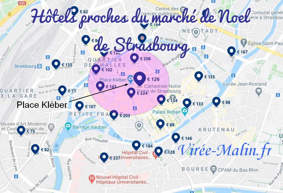 hotels-proches-marche-noel-strasbourg