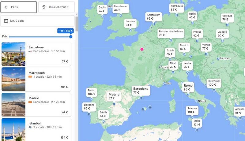 google-flight-pour-partir-pas-cher