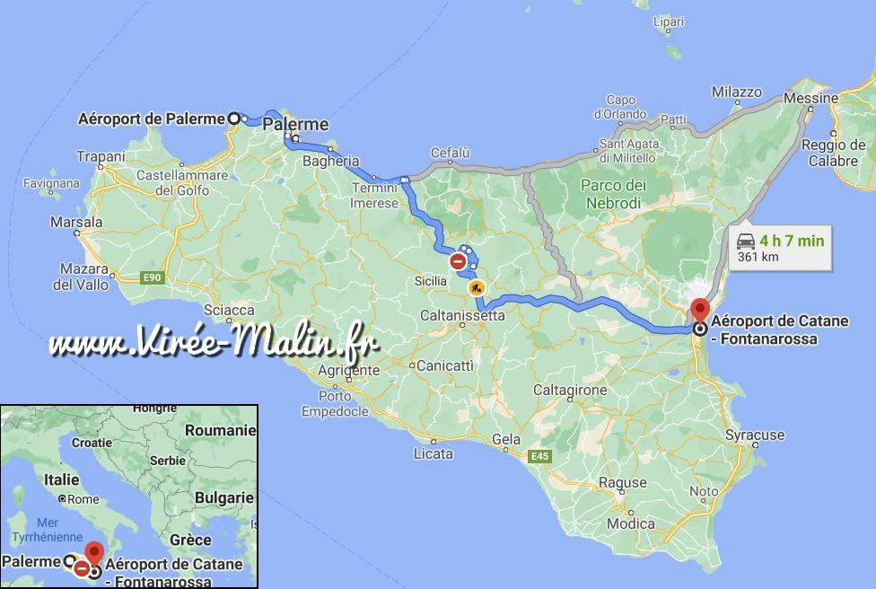 aeroport-sicile-catane-palerme-googlemap