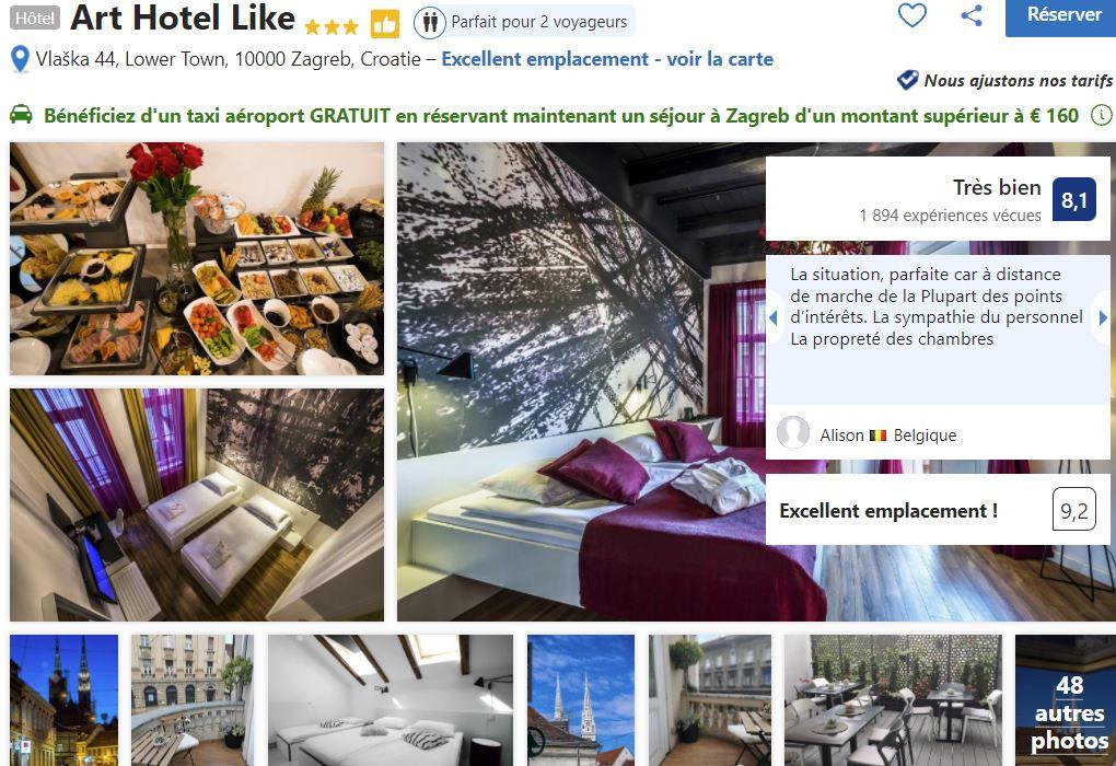 art-hotel-like-zagreb-3-etoiles