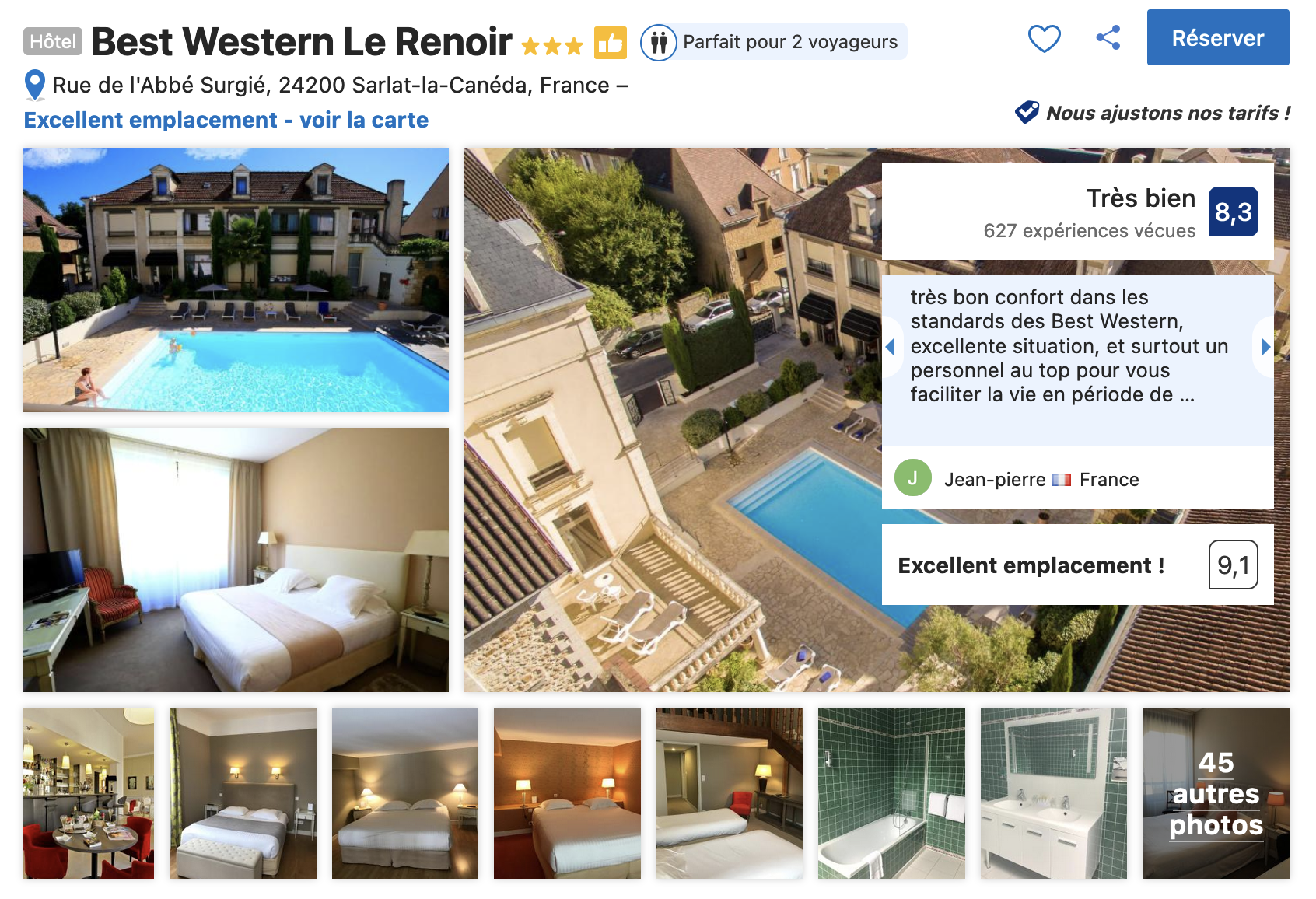 hotel-trois-etoiles-sarlat-bon-rapport-qualite-prix