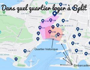 Où dormir à Split, dans quel quartier loger à Split