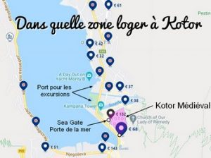 Où dormir à Kotor ? Dans quel quartier loger à Kotor, Vieille ville, Pile, Ploce, Lapad ou Gruz ?