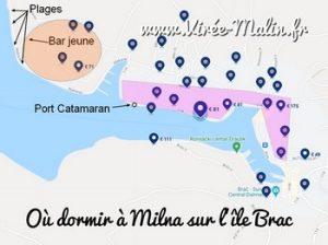 Où loger sur l'île de brač ? Dans quelle ville dormir à Brac ?