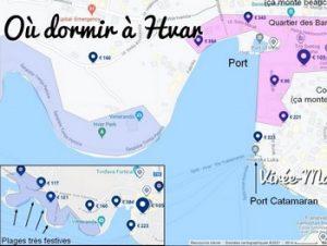 Où dormir sur l'île de Hvar ? Dans quelle ville loger à Hvar